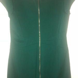 Green cap sleeved dress